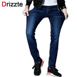 751dcb28480 Crazy2019 Drizzte Mens Dishy Stretch Denim Jeans Lycra Blue Slim Jean Pants  Plus Size 33 34 36 38 40 42 44