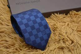 gravata slim de seda preta sólida Desconto Gravata de grife gravata de seda dos homens da marca de moda casual gravata de negócios 8 cm top quality checkerboard laços requintado caixa de presente de boa qualidade