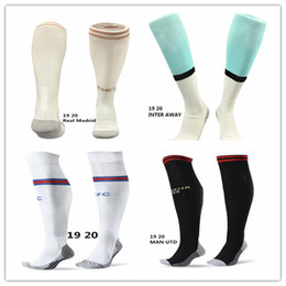 yellow football socks Coupons - Soccer socks 19 20 adult and child football sport stockings 2019 20 ISCO ASENSIO POGBA MESSI MBAPPE fit feet universal size discount sale