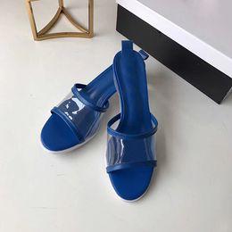 5 farben mode qualität frauen sandalen designer rutsche sommer mode kristall ferse rutschig sandalen flop party bankett ferse 3,5 cm original bo von Fabrikanten