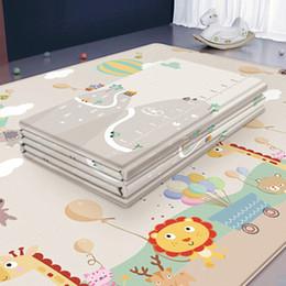 200 * 180cm Katlanabilir Karikatür Bebek Pad Çocuk Kilim Bebek Oyunları Mats V191109 Tırmanma Mat XPE Bulmaca Çocuk Mat Baby Çal nereden