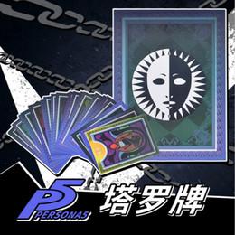 2019 meninas de jogos de animais ostumes acessórios traje adereços jogos Anime Persona 5 Cosplay Adereços Tarot Card 23 diferentes cartões COS acessórios meninos meninas Halloween ...