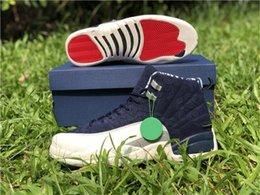 2018 12 Uluslararası Uçuş Ar12 Tokyo Japonya Erkekler Günlük Ayakkabılar, Üniversite Donanma 130690-445 Gerçek Karbon Elyaf Spor Spor ayakkabılar Boyut 7-13 nereden tokyo ayakkabıları tedarikçiler