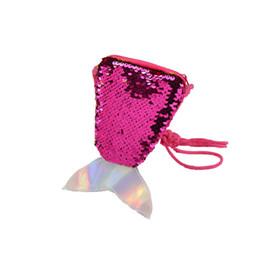 Свадебный подарок кошелька монет онлайн-Русалка хвост блесток талреп портмоне дети диагональ длинный мешок веревки небольшой кошелек свадебный подарок