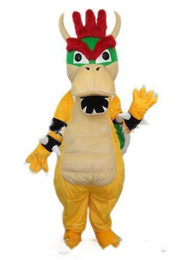 Hot new Super Mario Dragão Dinossauro Traje Da Mascote Dos Desenhos Animados Fancy Party Dress Halloween Carnaval Trajes Adulto Tamanho de
