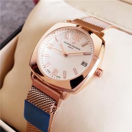 Marca de relojes de cuarzo de superficie online-Venta caliente marca 38 mm Cinturón de malla Superficie de taladro Reloj QUARTZ moderno Reloj de lujo Reloj clásico para mujeres Relojes Relogio