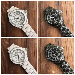 Роскошные ГОРЯЧИЕ Леди Белый / Черный Керамические Часы Высокого Качества Кварцевые Наручные Часы Для Женщин Мода Изысканные Женщины от