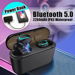 micrófono construido Rebajas Bluetooth 5.0 HBQ Q32 Auriculares TWS Auriculares inalámbricos Gemelos Auriculares 5D Auriculares estéreo Micrófono incorporado con 2600mAH Estuche de carga