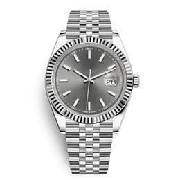 Relógios automático on-line-12 Cores Automatic 2813 Relógios Mecânicos Homens Datejust 41 milímetros de aço inoxidável Sapphire vidro sólido Presidente Fecho do cinza dos homens relógio de pulso masculinos