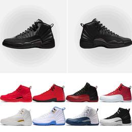 2019 12 zapatos baratos Zapatillas de baloncesto para hombre baratas 12s Winterized WNTR Gym rojo 12 College Navy Flu Game el maestro negro blanco taxi Deportes zapatillas tamaño 7-13 rebajas 12 zapatos baratos