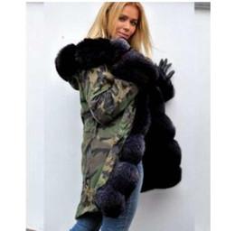 2019 abrigo de visón plateado 2019 MUJERES Invierno Fourrure Down Parka Femme Jassen Daune jacke Prendas de abrigo Big Fur con capucha Fourrure Manteau Down Jacket Coat Hiver Doudoune