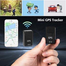 rastreador global por atacado Desconto Mini GF-07 GPS SOS Dispositivos de Rastreamento Magnético Permanente Para Veículo Carro Criança Localização Trackers Locator Systems Mini GPS Trackers