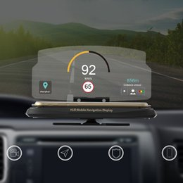 2019 складной мобильный стенд Universal Car HUD Head Up Display Mobile Phone GPS Navigation HUD Bracket For Smart Phone Car Stand Folding Holder скидка складной мобильный стенд