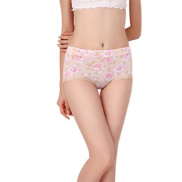 18facc4ffd Women Underwear Sexy Lingerie Lace Sexy Mid-Rise Panties Breathable Printing  Silky Ice Silk Cute Women Underwear Plus Size