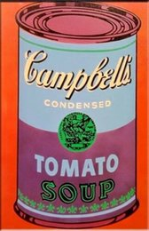 Arte andy warhol online-Andy Warhol Dipinto a mano HD Stampa Pop Art Pittura a olio Campbell's Tomato Soup su tela Wall Art Home Deco g64