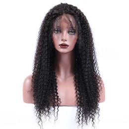 2019 prix à moitié perruque Perruque en dentelle de cheveux humains EPLO Kinky Curly pré pincé Hairline Lace Front perruque Curly Full Lace Wig cheveux brésiliens vierges 150% de densité sans colle