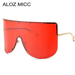 viseira para óculos de sol Desconto ALOZ MICC Das Mulheres Da Moda  Oversized Óculos De Sol 4a6f93cb548