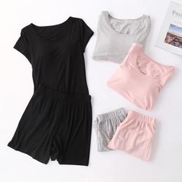 2020 vestiti di notte delle signore Pigiama da notte con pettorina Plus Size Pijama Mujer Abiti da notte Ladies Sleepwear Pigiama da donna Set Lounge casual Abbigliamento per la casa vestiti di notte delle signore economici