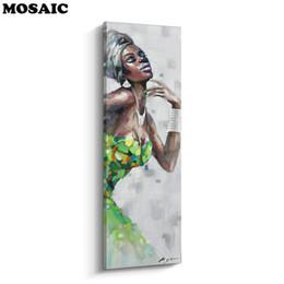 2019 lona de pintura a óleo de girassol Mulheres negras no vestido africano americano novo diamante 5d ponto cruz bordado cheio needlework diy pintura diamante kit