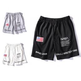 justin ceintures Promotion NASA Shorts Mens Lettre Courte Broderie Cordon D'été Concepteur Pantalon Hommes Femmes Noir Blanc Gris Tendance Pantalon De Survêtement Taille M-2XL