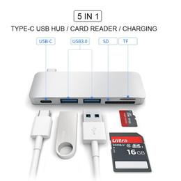 Argentina Multifuncional 5 en 1 USB C Hub a Dual USB 3.0 Video HD SD TF Lector de tarjetas Tipo C Adaptador para MacBook 10pcs / up Suministro
