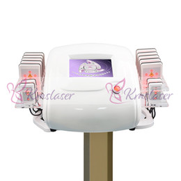 lipo fat machine Promo Codes - 650nm Lipo Laser LipoLaser Slimming Instrument Fast Fat Burning Remover Body shaping zerona weight loss machine (14pcs paddles) weight loss