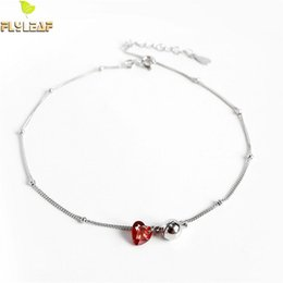 Unique Women Gift anklets Women Girls Student s925 Sterling Silver Bells Women Gift Girlfriend Transfer Beads Jewelry Small Box Anklet