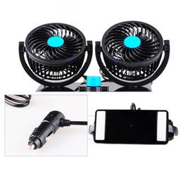 2019 ventilador de baixo ruído Carro elétrico Fan Low Noise Verão Air Conditioner Rotating Fan Air Cooling Mini Automobile Parts desconto ventilador de baixo ruído