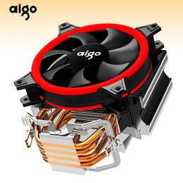 2019 amd processor am3 Aigo E3 Computer Case CPU Cooler Radiatore in alluminio 12V sistema di raffreddamento processore 4 Heatpipes CPU ventola di raffreddamento per Intel AM2 / AM3 / AM4 amd processor am3 economici