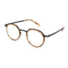 Óculos coreanos on-line-Dinamarca-coreano Homens Round óculos de armação Morten Eyewear Vintage prescrição óptica Óculos Mulheres Ultraleve Miopia