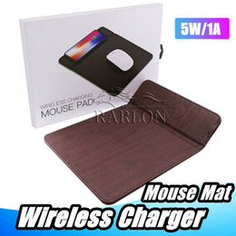 google wireless mouse Rabatt Für iphone xs max drahtlose ladegerät mauspad 5 v 1a qi handy drahtlose ladegerät pu mauspad für samsung google xiaomi