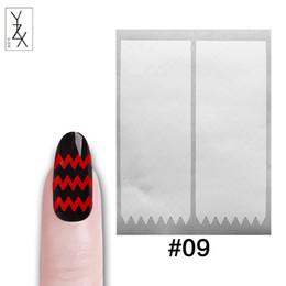 tipi di chiodi Sconti Adesivi Decalcomanie YZX 5 fogli di smalto a forma di onda Suggerimenti di guida Adesivo a stecca vuota Consigli Logo 3D Design Manicure Strumenti di styling per