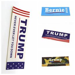 2020 bandera americana a prueba de agua TRIUNFO 2020 Etiqueta 4 Estilos de 10 x 3,5cm Artículos de la bandera americana para el parachoques divertida etiqueta del vinilo impermeable de las etiquetas engomadas de la novedad OOA7063-1 rebajas bandera americana a prueba de agua