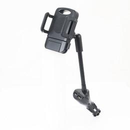 Telefono cellulare di base online-Caricabatteria per auto USB Dual Charger 5V 2.4A carica rapida con supporto per cellulare