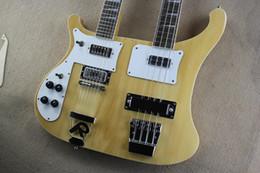 12-строчная левая рука Скидка Высокое качество 12 струнных гитар 4 струнных баса Burlywood RICK с двойной горловиной для левой руки Электрогитара 15-6-25