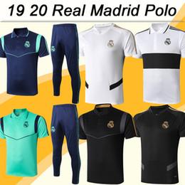 Camisa de polo negro online-19 20 Real Madrid Polo Camisetas de fútbol Nuevo MARIANO KROOS BENZEMA MODRIC BALE MARCELO Rojo Negro Gris Blanco Camisetas de fútbol Camisetas