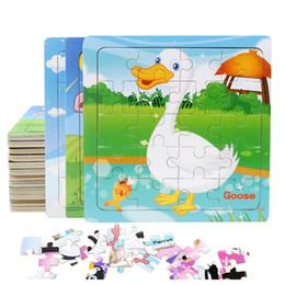 Canada 9/20 Tranche Petite Pièce Puzzle Jouet Enfants Animaux et Véhicule En Bois Puzzle Jigsaw Bébé Jouets Éducatifs pour Enfants Cadeau Offre