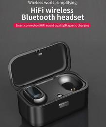 iphone bluetooth headphones Скидка HIFI Bluetooth 5.0 Беспроводная стереогарнитура IPX5 Водонепроницаемые спортивные наушники-вкладыши Наушники Наушники TWS с шумоподавлением с зарядным чехлом