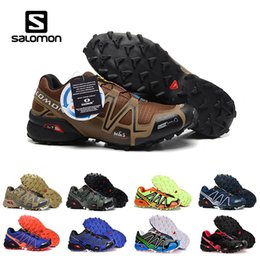 Дешевые женские кроссовки белые онлайн-Cheap Salomon Speed cross 3 III CS outdoor running shoes for mens womens Black White breathable Athletics Shoes sports Sneakers Size 40-46