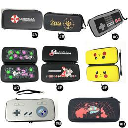 interruptor cubierto Rebajas Para Nintendo Switch NS EVA Hard Shell Travel Carry Case Funda protectora Bolsa de almacenamiento Bolsa para Switch Console Handle 11 colores
