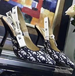 Chaussures élégantes en Ligne-Escarpins strass de luxe à bouts pointus, slingbacks de créateurs, talons, chaussures femmes, chaussures de ville élégantes taille 35-40 avec boîte R50