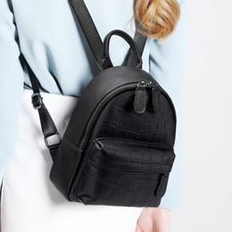 mochilas de couro para a mulher da faculdade Desconto Multi-função das mulheres da faculdade mochila de viagem livros mochila sacos de ombro pequenas mochilas de couro genuíno