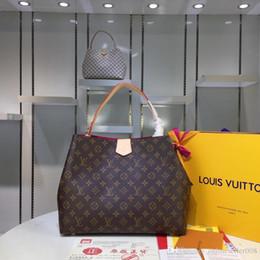 Erkek seyahat Çantaları Kadın çantası gerçek Deri Çanta Deri keepall 45 Omuz Çantaları tote 43704 boyutu 39-34-12 cm nereden bayan beden 34 tedarikçiler