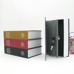 2019 caixa de dinheiro seguro Caixa de Armazenamento de Seguro Caixa de Armazenamento De Diversão Portátil Caso de Armazenamento De Livros Com Chave de Bloqueio Casa Dinheiro Dinheiro Jóias Armário Q190525 desconto caixa de dinheiro seguro