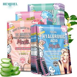 nez gras Promotion Hormel Acide Hyaluronique Visage Masque Hydratant Collagène Coréen Masque Feuille Traitement De L'acné Masque Soins Du Peau Du Visage Cosmétiques