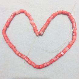 perles oeil de chat violet Promotion JYX matériaux de corail spéciaux matériel de bricolage En Gros 5 * 6.5mm Perles de Corail irrégulières Chaîne 16 pouces Fit DIY collier élégant