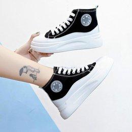 Sneakers femminili 2019 scarpe autunno nuovo di marea versione selvaggio bianco netta coreana delle donne della piattaforma della focaccina
