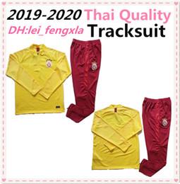 Chicos chaquetas amarillas online-2019 2020 Galatasaray fútbol chándal del kit del sistema de color amarillo traje de entrenamiento de fútbol Chaqueta Chandal Survetement 19 20 ternos de entrenamiento de fútbol