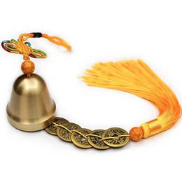 guirnalda de perlas de navidad Rebajas Adorno de campana de cobre Nudo chino Feng Shui Decoración del hogar Colgante de puerta de coche colgante de Bell
