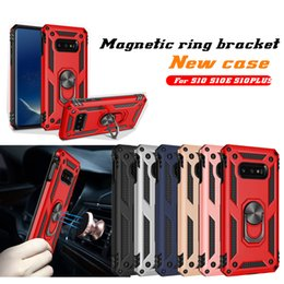 Гибридный бронированный чехол для Samsung Galaxy S10 5G Plus A70 A40 M10 M20 A8S A9 J4 J6 J6 HAUWEI P30 Lite Pro Y7 Y6 Y9 2019 Магнитный чехол-скоба от Поставщики pro brackets
